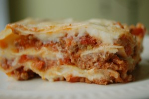 Lasagna (on a sweaty day)